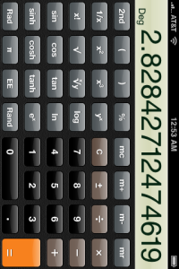 iPhone's Scientific Calculator