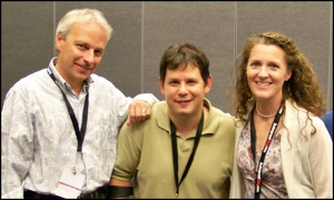 Tom, Lionel and Nicki at Blog World Expo 2008