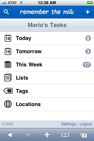 iPhone's Task App
