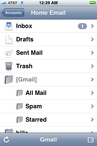 iPhone's Mail App