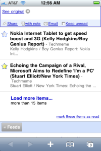 iPhone's News Reader App (RSS)