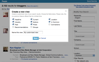 Customization for LinkedIn's New Search