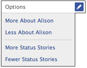 Facebook feed preferences