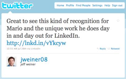 LinkedIn CEO, Jeff Weiner, on Mario Sundar